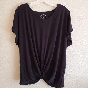 INC Twisted Black Shirt